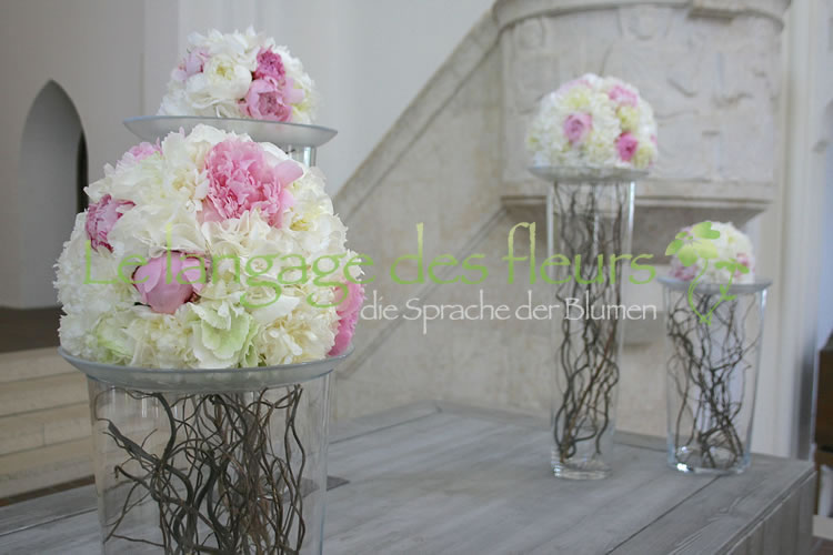 Wedding decoration, peonies, wedding decoration, Munich